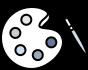 ikona paleta kolorów