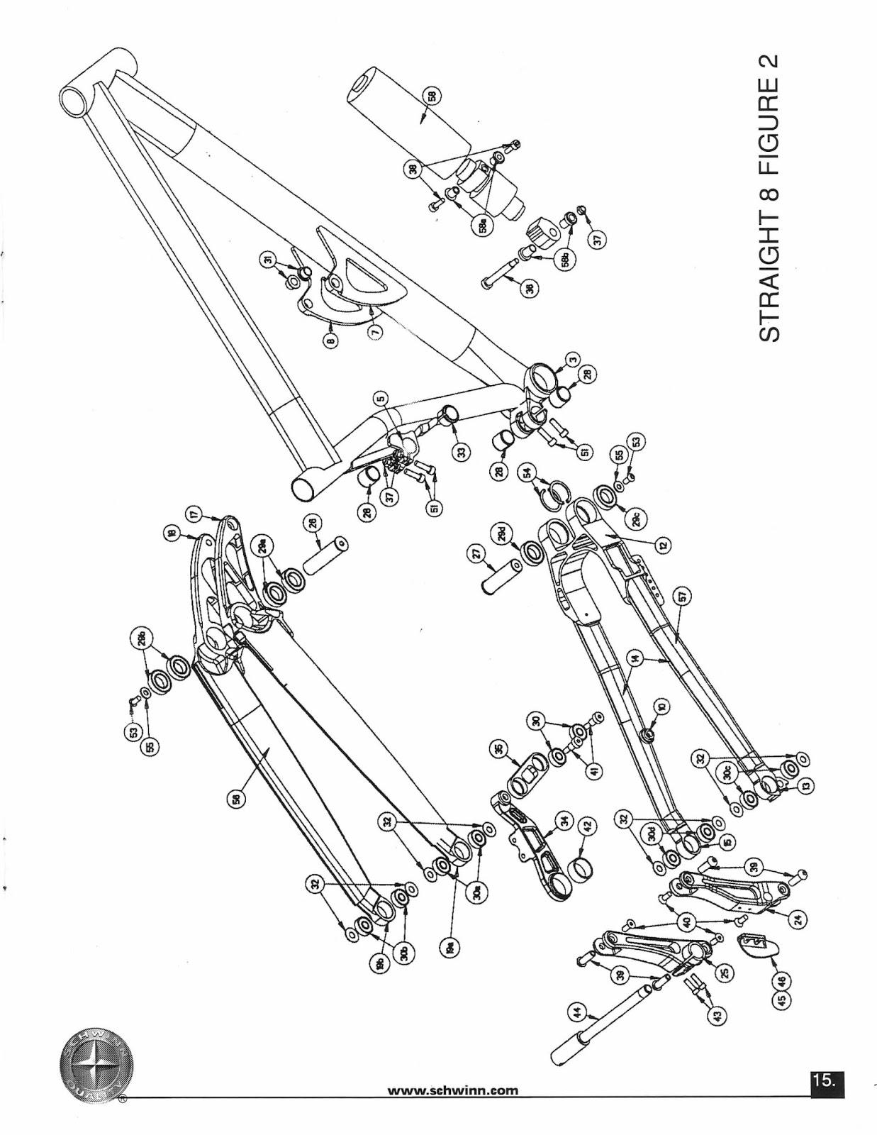 The Old Bike Shop: Schwinn suspension manual