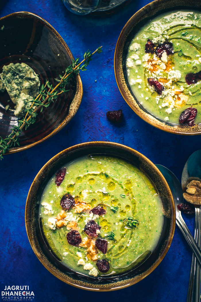 A combination of delicious and vibrant ingredients, this bowl of thick and creamy Instant Pot Broccoli and Pear Soup is perfect for warming up on chilly winter evenings and fancy enough as a starter on a Christmas party menu.