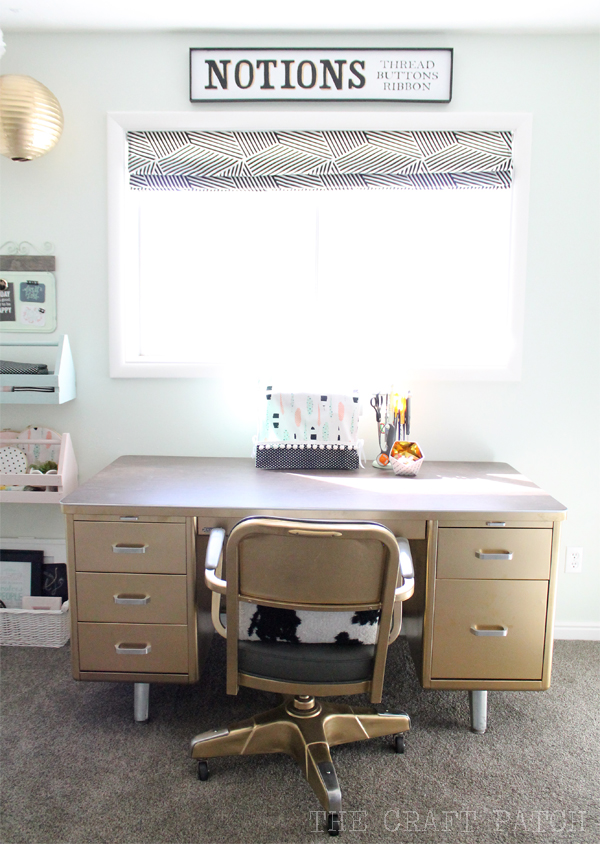 Gold Tanker Desk Makeover