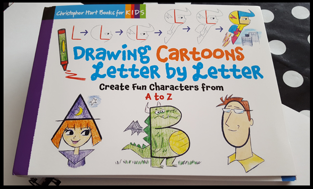 Learn to draw cartoons from the letters of the alphabet