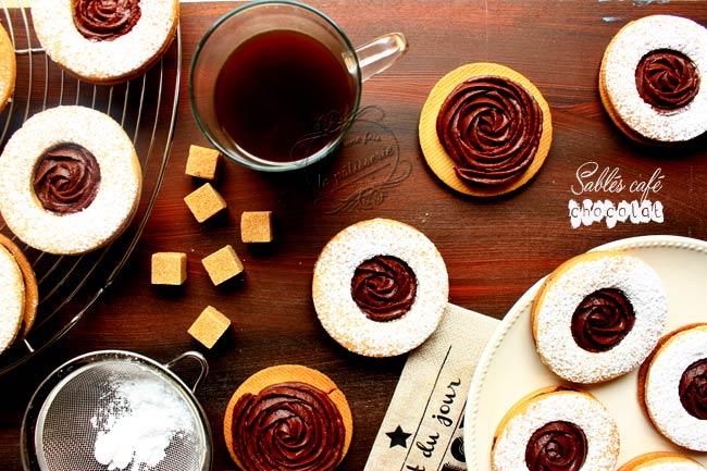 recette biscuits chocolat café