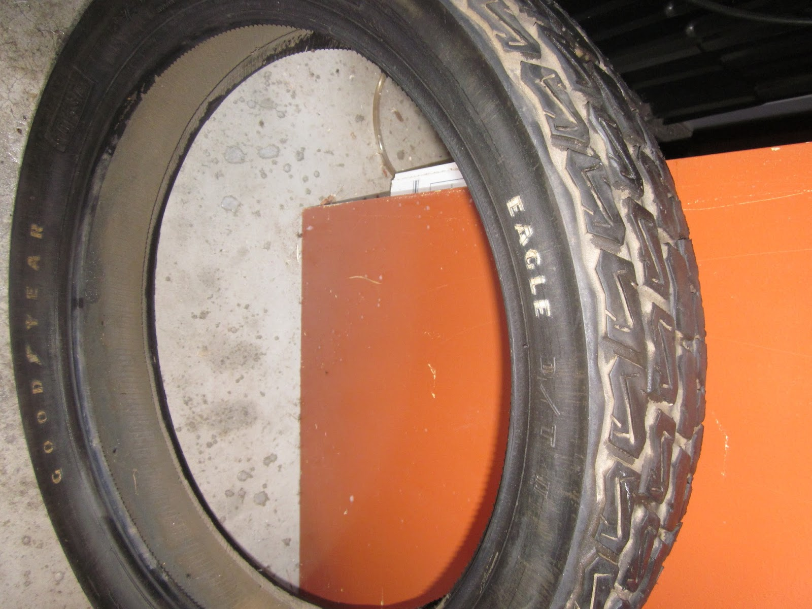 OldMotoDude: Good Year Eagle Dirt Track Tire mounted on