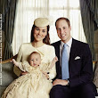 Prince George's Christening Family Pic with mum and dad!