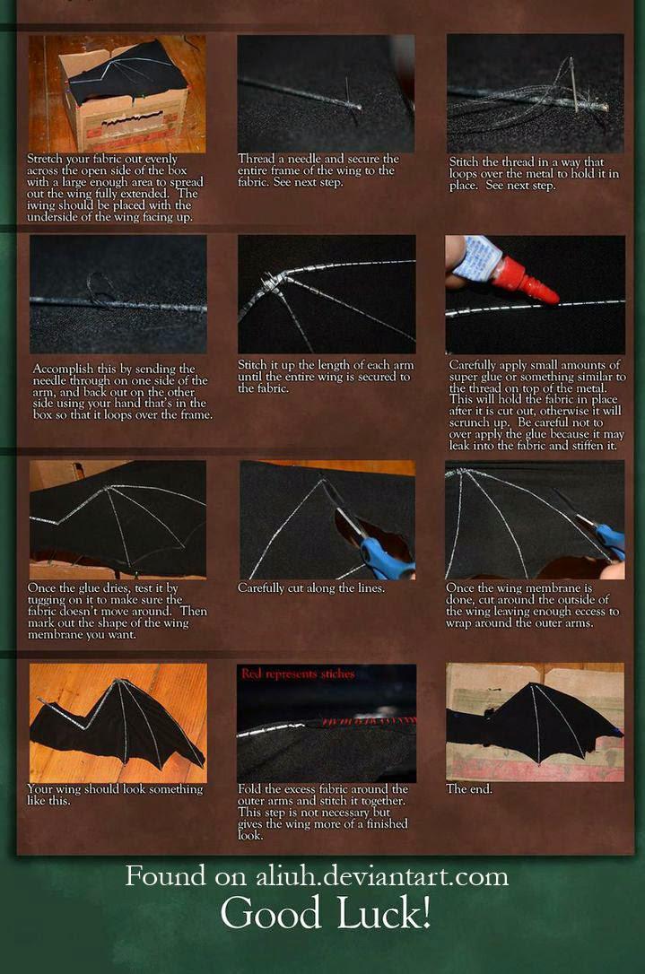 DollsArtCats: Aliuh\'s Umbrella Dragon Wings Tutorial