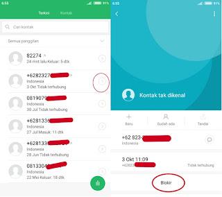 Cara agar orang tidak bisa menelpon kita - cara blokir nomor telepon di hp android