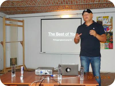 Cristian Manafu la Blogging BootCamp Craiova
