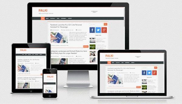 Palki - Responsive Free Blogger Template - Blogging