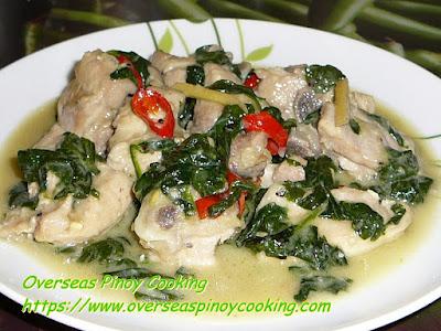 Ginataang Manok with Spinach