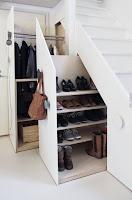 ideas para organizar el calzado DEBAJO ESCALERA