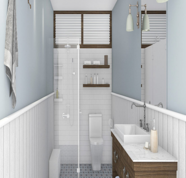 model keramik kamar mandi minimalis modern