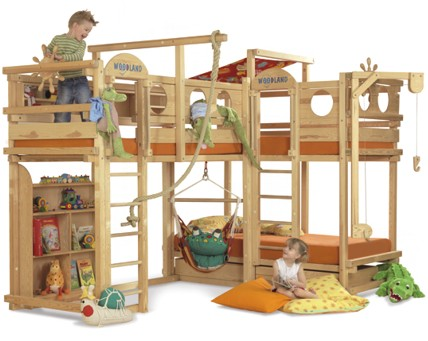 Wooden Kids Bunk Beds