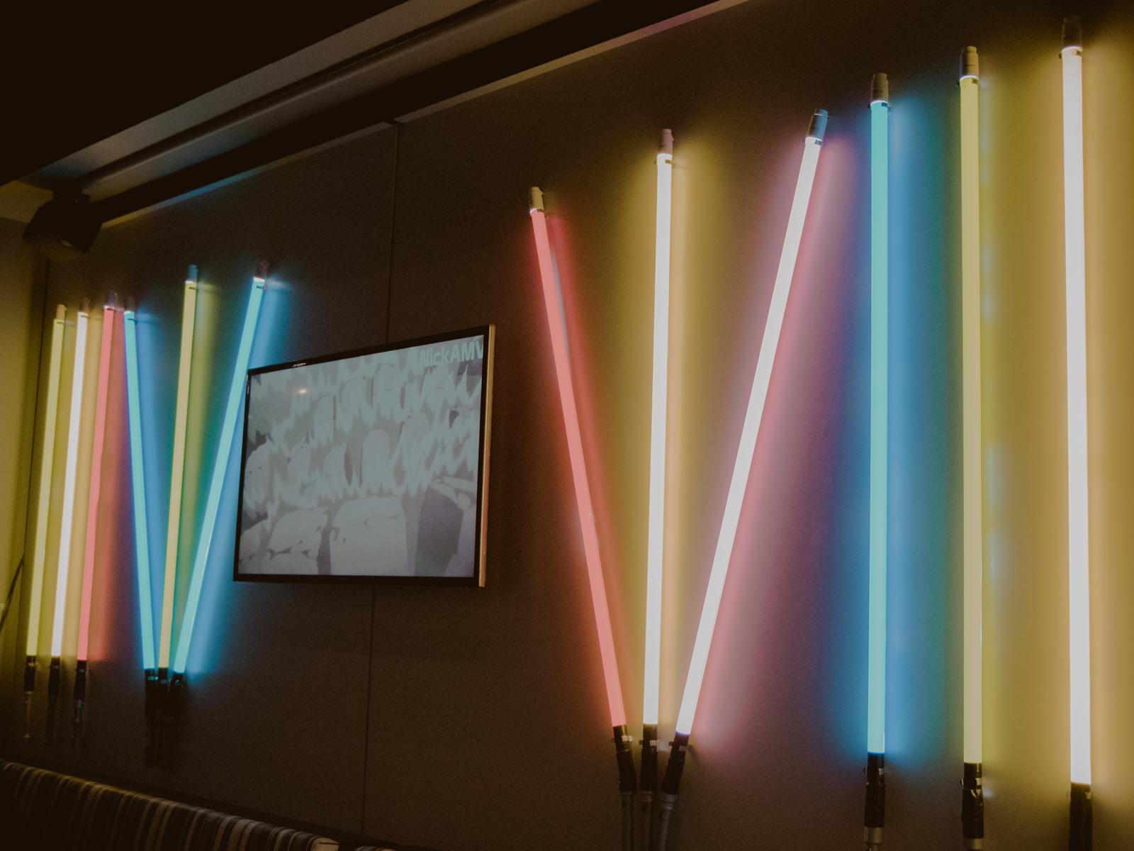 decoração sabres de luz