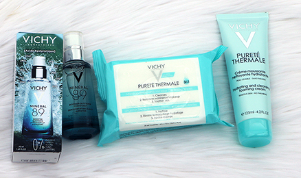 Vichy Purete Thermale Makeup Removing Micellar Cleansing Wipes Purete Thermale Cleanser Foaming Cream Mineral 89