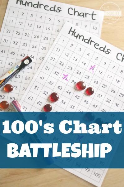 Hundreds Chart Battleship Math Games
