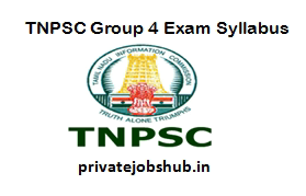 TNPSC Group 4 Exam Syllabus