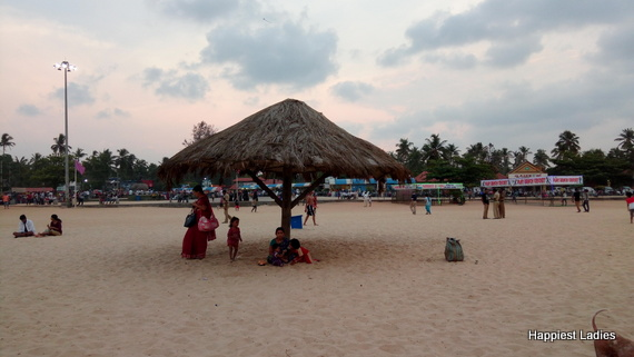 beach shacks malpe beach udupi