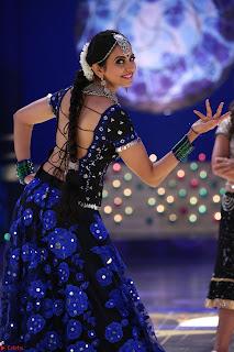 Rakul Preet Singh dance in Blue and yellow choli HD Pics from Movie Winner 002.jpg