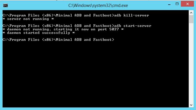 adb start-server