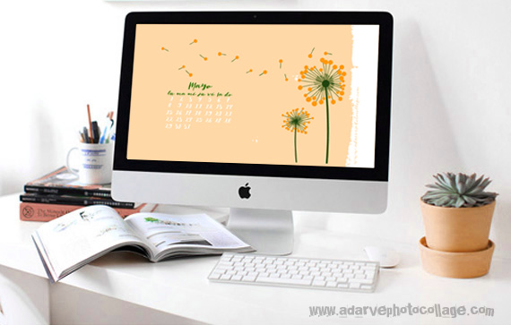 free mai calendar wallpapers in spring flowers colors