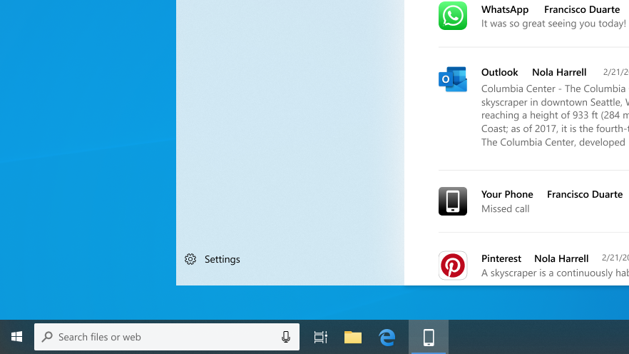 Taskbar-Windows-10-ridisegnata