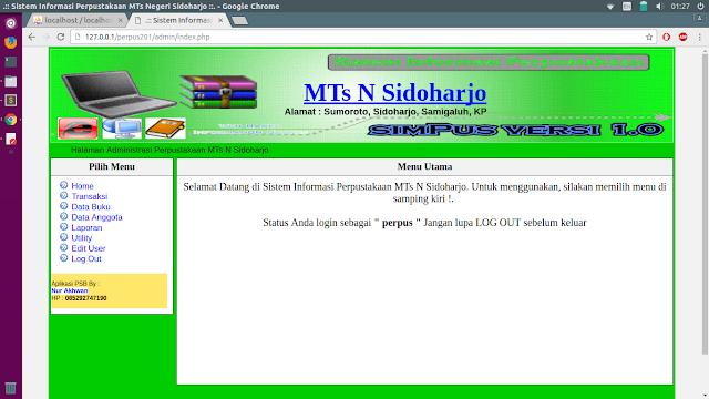 Source Code Aplikasi WEB Perpustakaan Dengan PHP MySQL Gratis