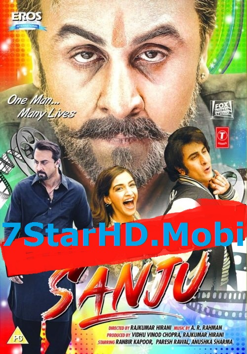 Sanju (2018) Hindi 600MB Pre-DVDRip 720p HEVC x265 Cleaned Audio