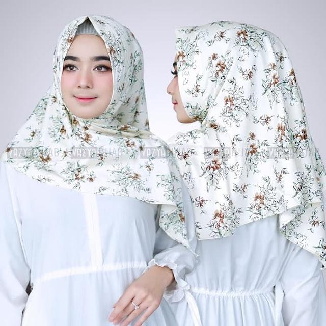 Hijab Kerudung Segitiga Instan ELYSA Terbaru Warna PUTIH ya