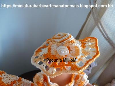 Vestido dA Bela e a Fera em Crochê Para Bonecas com Passo a Passo de Pecunia MillioM 1