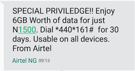 Airtel Special Privilege Offer