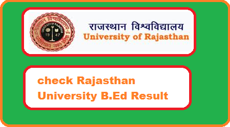 Rajasthan University B.Ed Result 2018