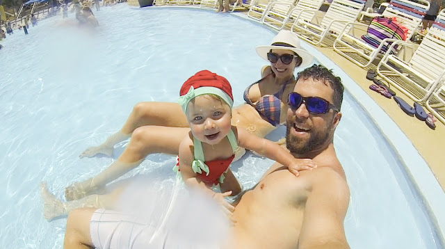 Young family escapes the heat at North Florida's water park Shipwreck Island