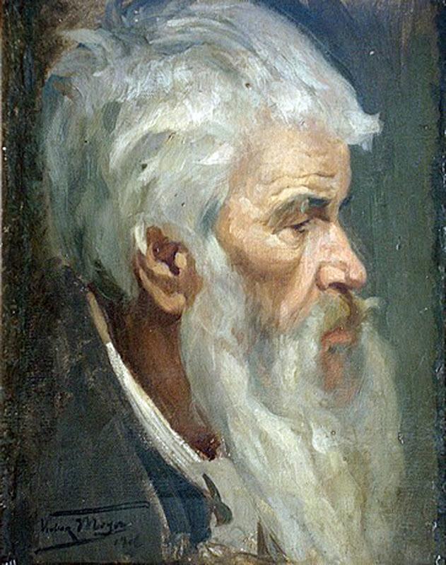 Cabeza de viejo, Victor Moya Calvo, Pintor español, Pintores Valencianos, Retratos de Victor Moya Calvo, Pintores españoles