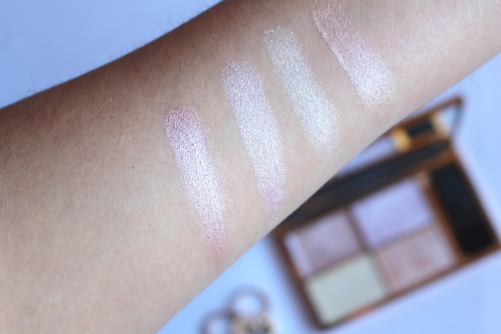 sleek makeup palette swatches, affordable makeup, highlighting