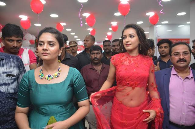 Catherine Tresa & Sreemukhi Launches B NEW MOBILES Store at Guntur Photos