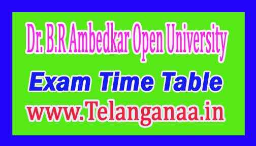 BRAOU B.Ed 1st Year Annual Exam Time Table 2016-17 Dr. B.R Ambedkar Open University