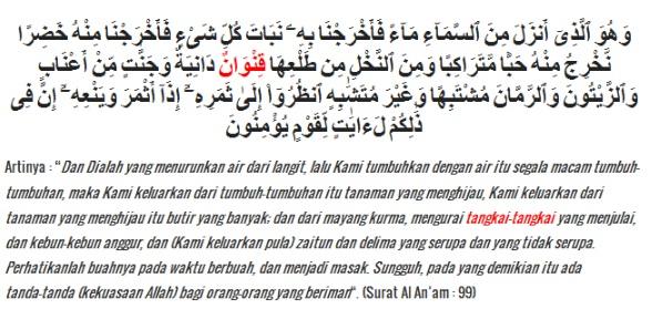 Contoh Bacaan Idzhar Wajib dalam Surat Al-An'am  ayat 99