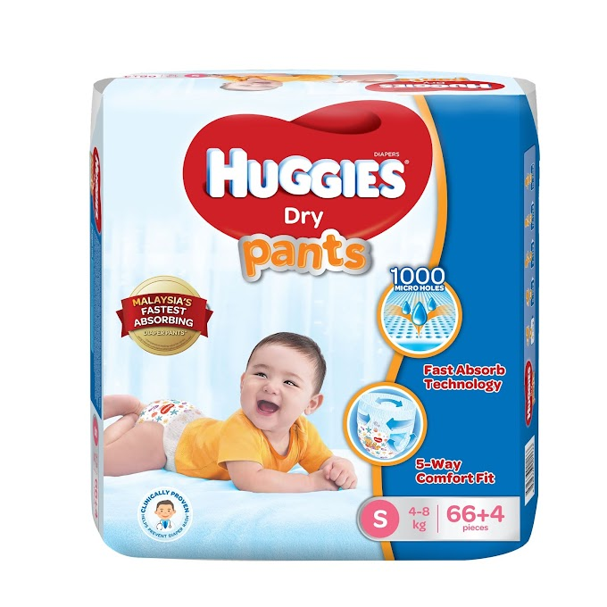 Huggies Dry Pants |Malaysia's Fastest Absorbing Diaper Pants