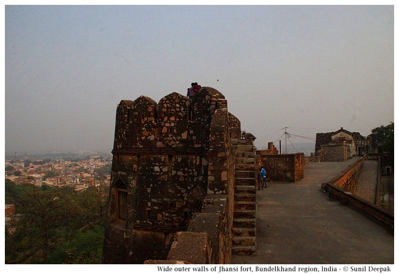Walls of Jhansi fort, Bundelkhand region, central India - Images by Sunil Deepak