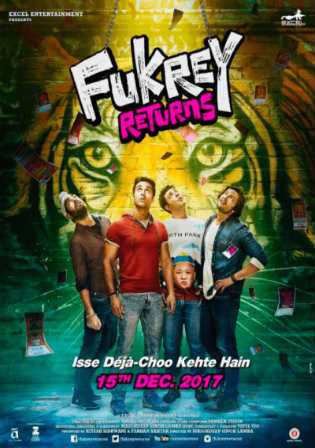 Fukrey Returns 2017 HDRip 400Mb Full Hindi Movie Download 480p Watch Online Free bolly4u