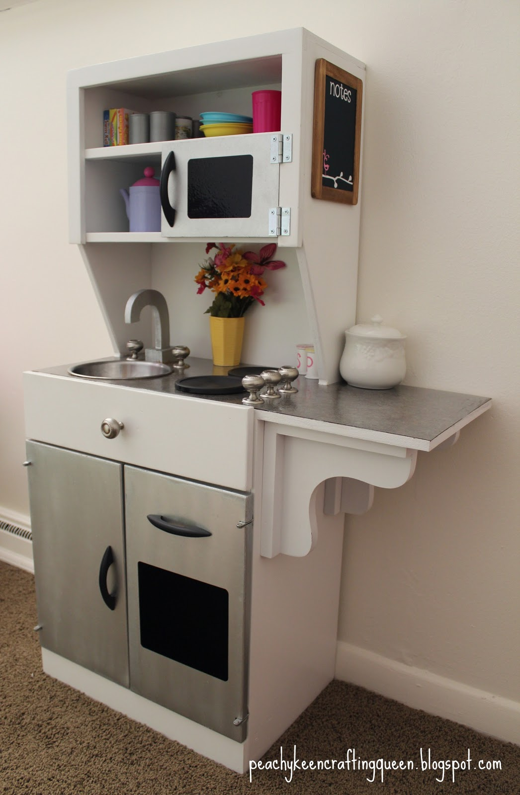 Peachy Keen Crafting Queens DIY Childrens Play Kitchen