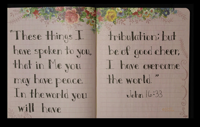 Scripture Writing, John 16:33