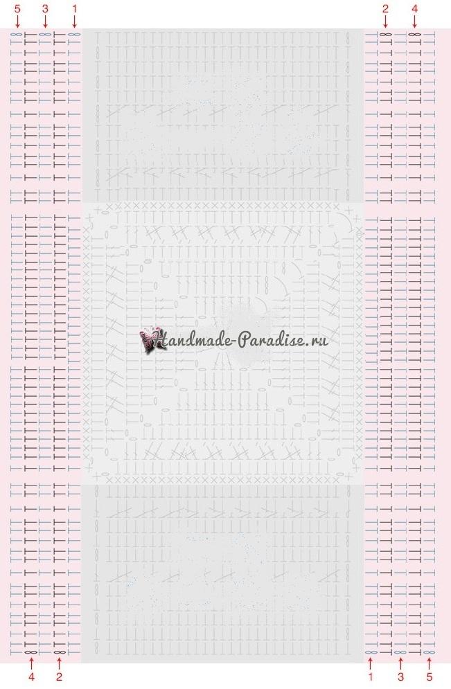 Вязание крючком обложки для книжки (1)