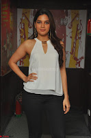 Tanya Hope in a whtie shirt and leggings at Song launch of Movie Patel Sir ~  Exclusive Celebrities Galleries 017.JPG