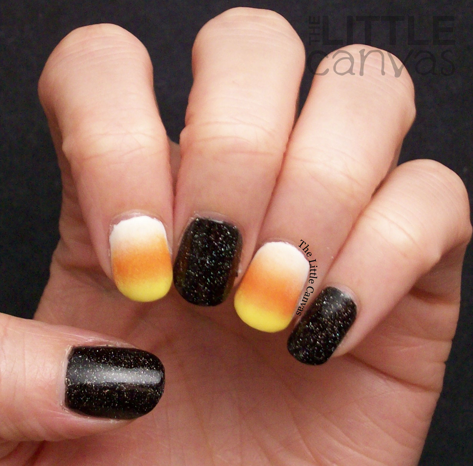 The One With The Candy Corn Nails The Little Canvas
