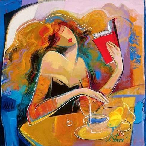 Leitura de Poesia - Irene Sheri e suas românticas pinturas