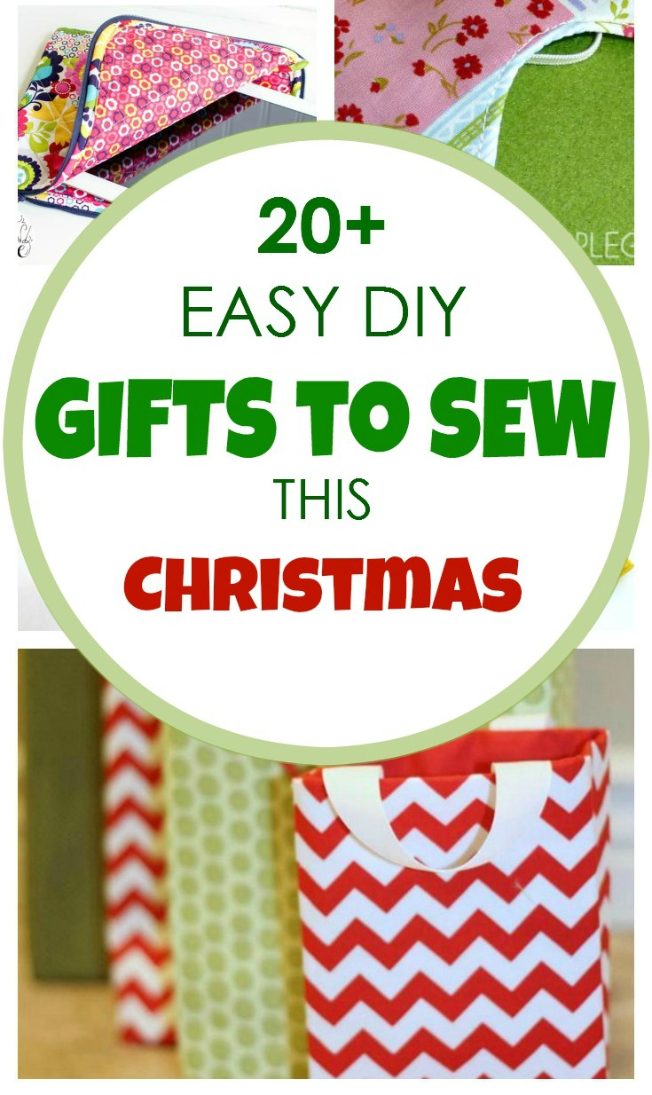 20+ Easy Gifts to sew For Christmas