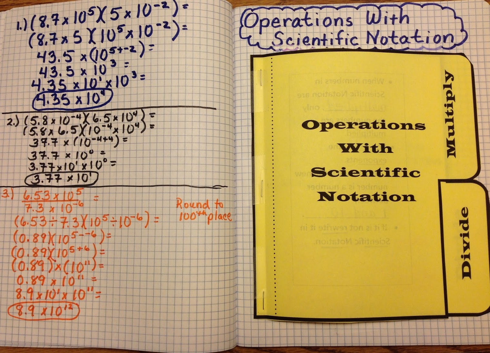 Equation Freak Multiplication And Division Of Scientific Notation Foldable
