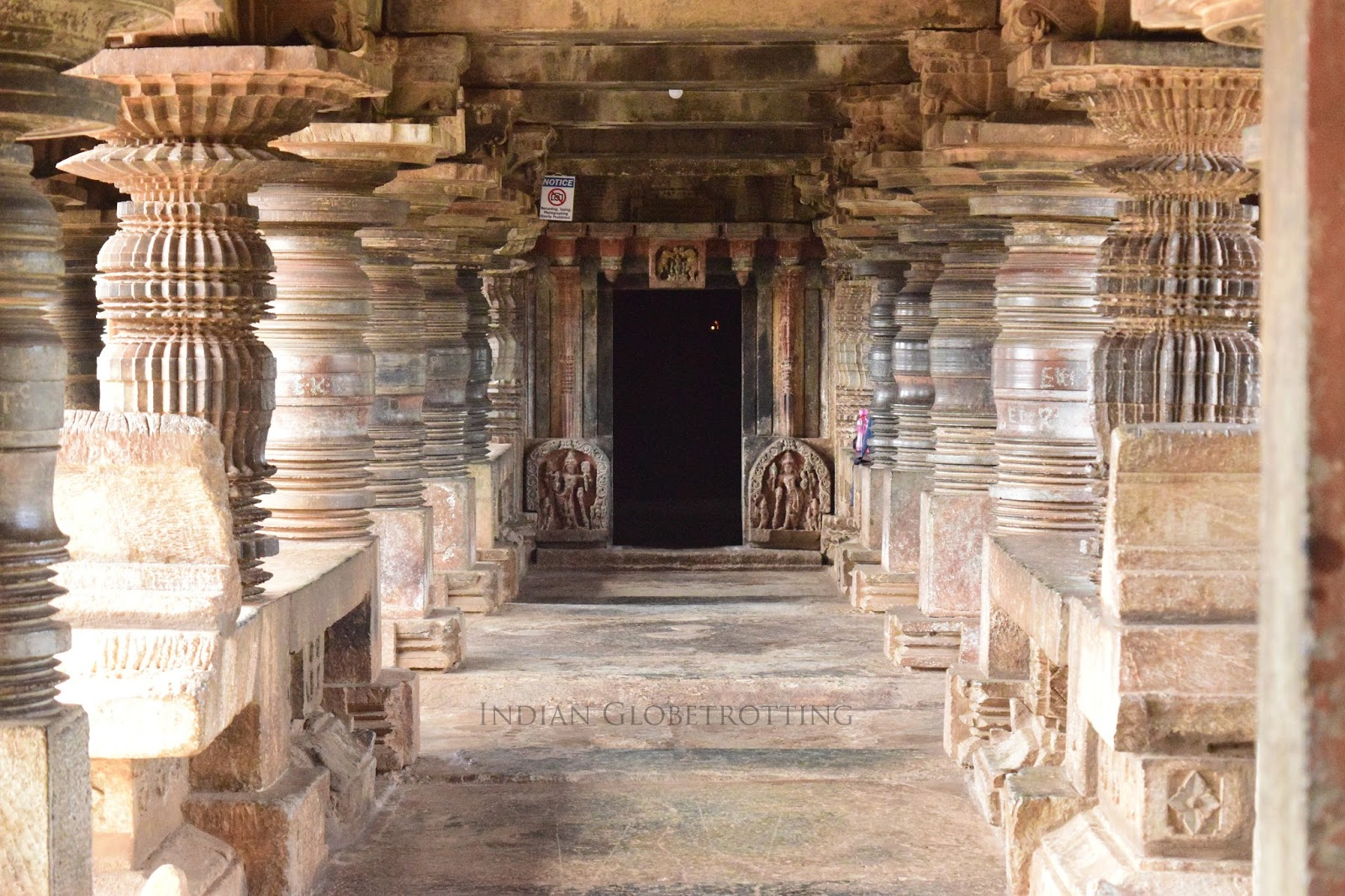Lathe tuned pillars of Belavadi Veeranarayana Temple