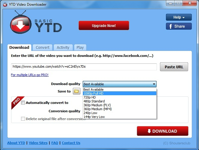 How to download easily youtube videos shoutersclub 2016 ytd youtube downloader is desktop software that allows you to download videos from youtube facebook dailymotion video vimeo video and many others and ccuart Images
